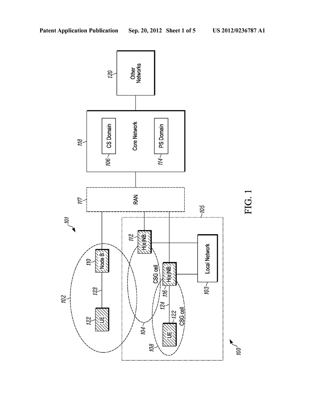 METHOD FOR ENABLING A WIRLESS COMMUNICATION DEVICE, CONNECTED TO A FIRST     DOMAIN OF A NETWORK, TO ACCESS A SERVICE IN A SECOND DOMAIN, WIRELESS     COMMUNICATION DEVICE AND COMMUNICATION SYSTEM - diagram, schematic, and image 02