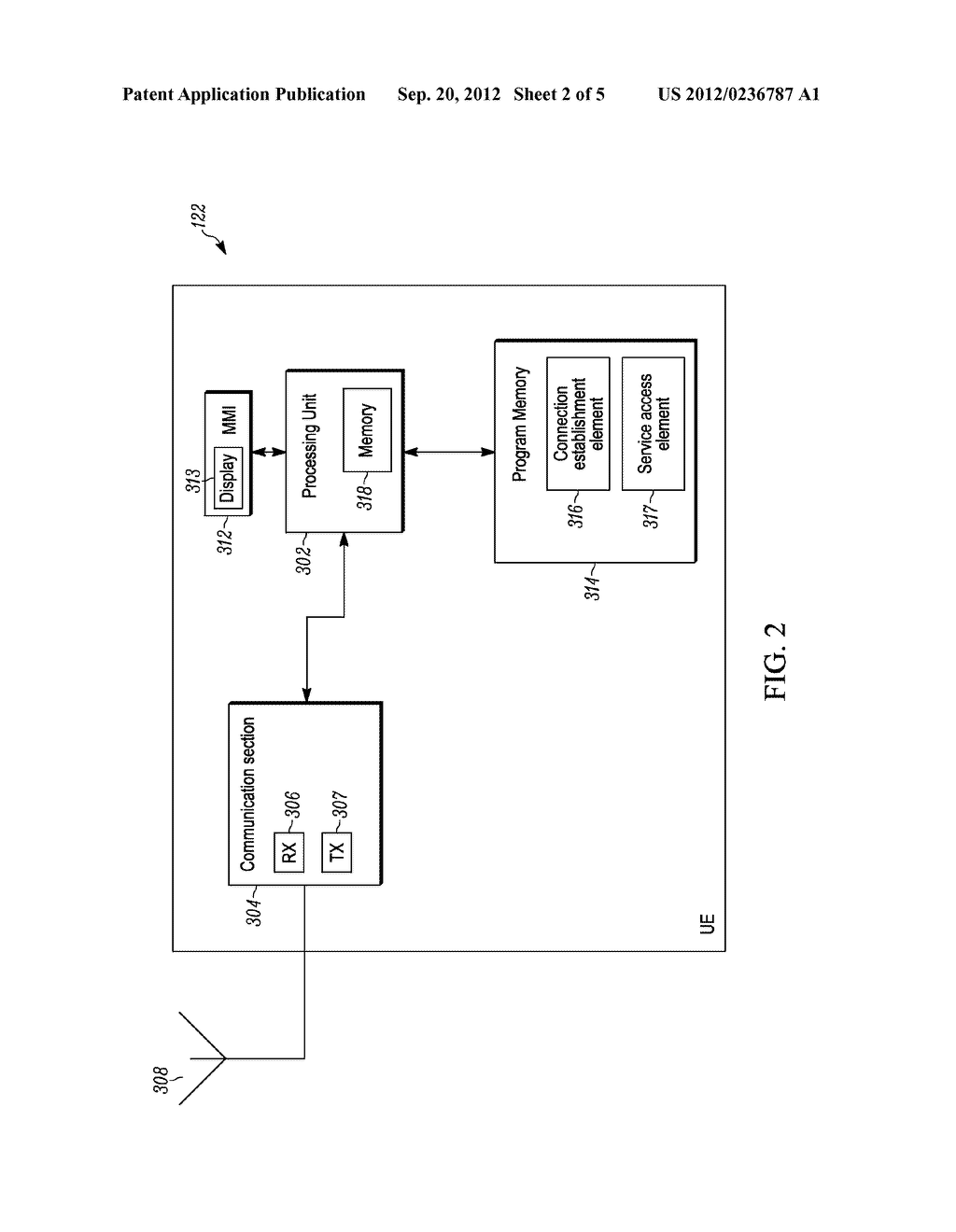METHOD FOR ENABLING A WIRLESS COMMUNICATION DEVICE, CONNECTED TO A FIRST     DOMAIN OF A NETWORK, TO ACCESS A SERVICE IN A SECOND DOMAIN, WIRELESS     COMMUNICATION DEVICE AND COMMUNICATION SYSTEM - diagram, schematic, and image 03