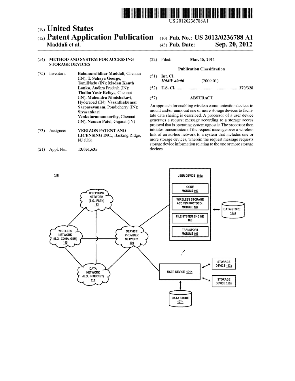 METHOD AND SYSTEM FOR ACCESSING STORAGE DEVICES - diagram, schematic, and image 01