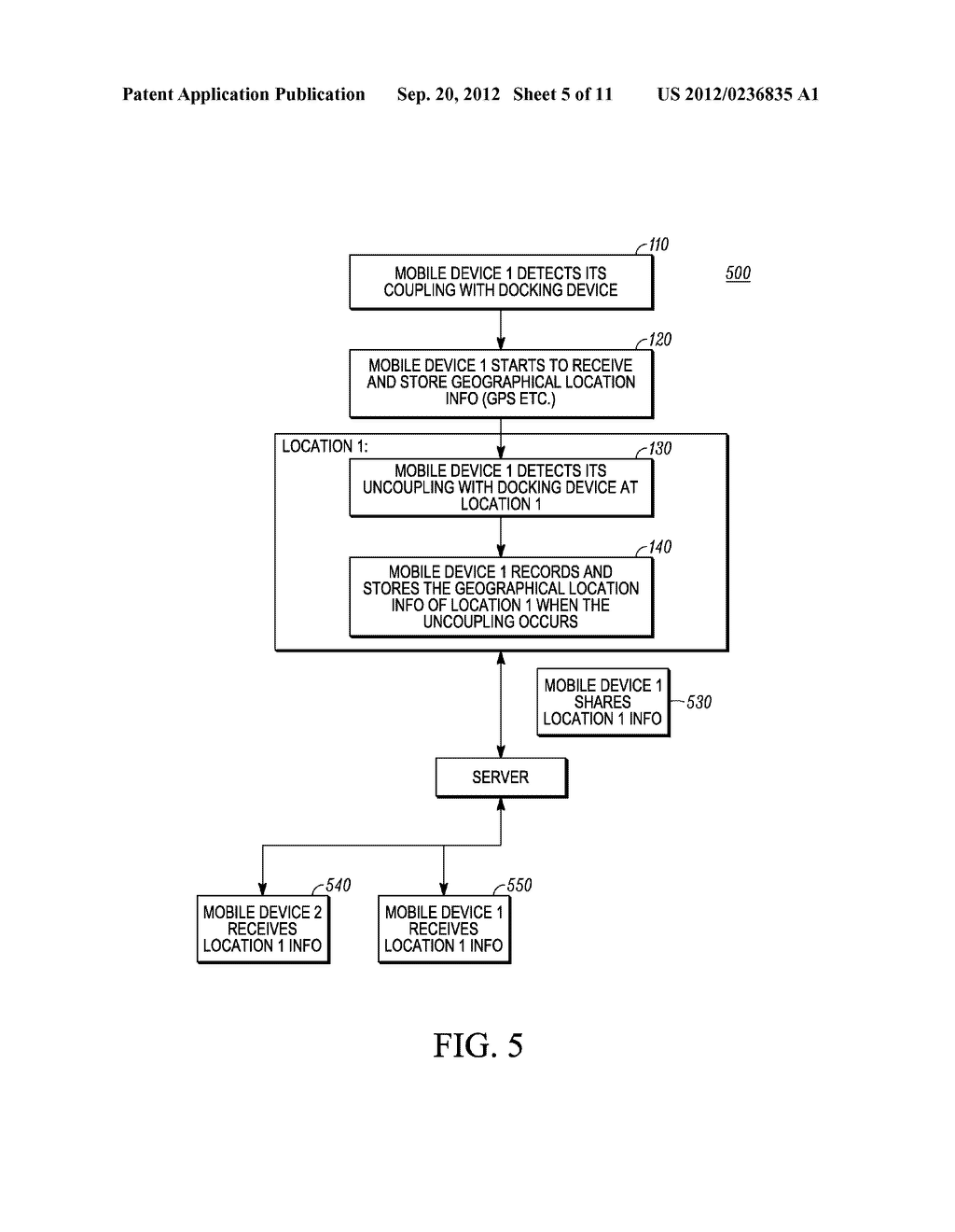 METHOD AND SYSTEM FOR RECORDING A GEOGRAPHICAL LOCATION FROM A MOBILE     COMMUNICATION DEVICE - diagram, schematic, and image 06