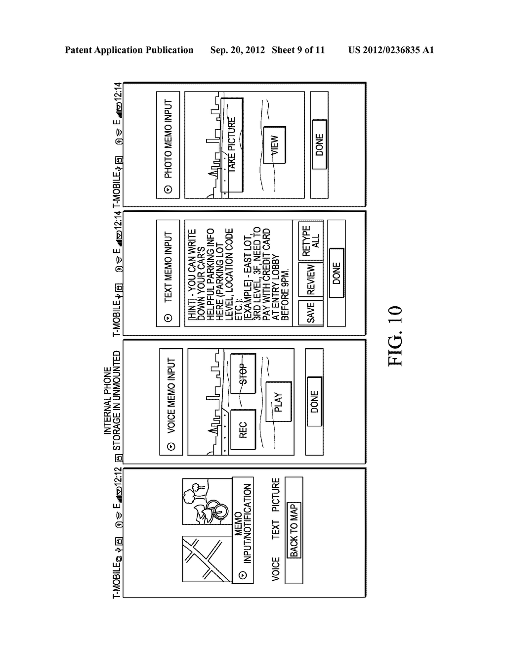 METHOD AND SYSTEM FOR RECORDING A GEOGRAPHICAL LOCATION FROM A MOBILE     COMMUNICATION DEVICE - diagram, schematic, and image 10