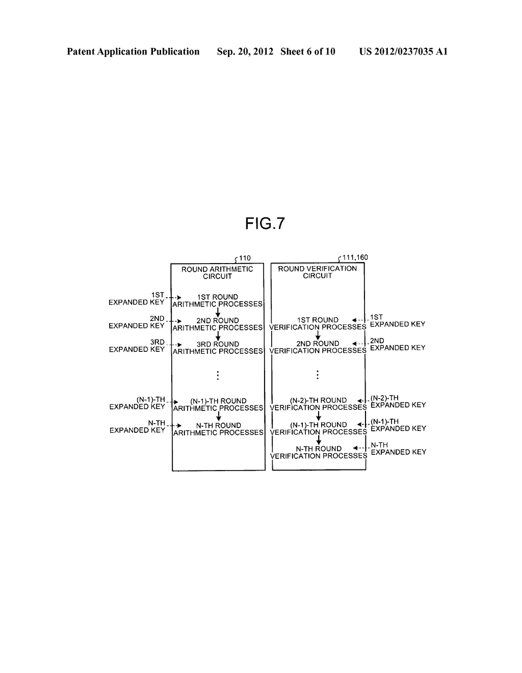 KEY SCHEDULING DEVICE AND KEY SCHEDULING METHOD - diagram, schematic, and image 07