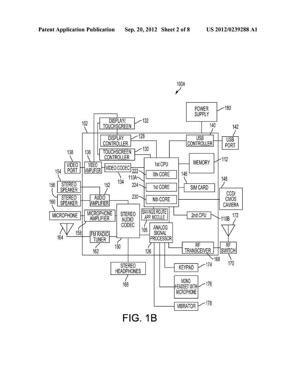 METHOD AND SYSTEM FOR GENERATING SAVINGS ROUTES WITH A PORTABLE COMPUTING     DEVICE - diagram, schematic, and image 03