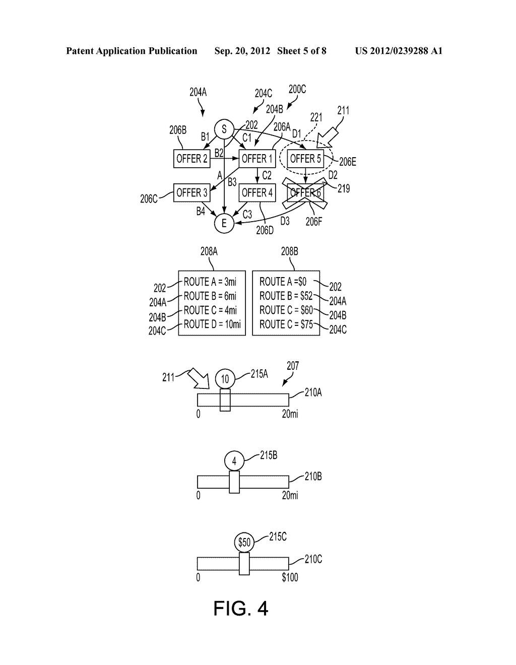 METHOD AND SYSTEM FOR GENERATING SAVINGS ROUTES WITH A PORTABLE COMPUTING     DEVICE - diagram, schematic, and image 06