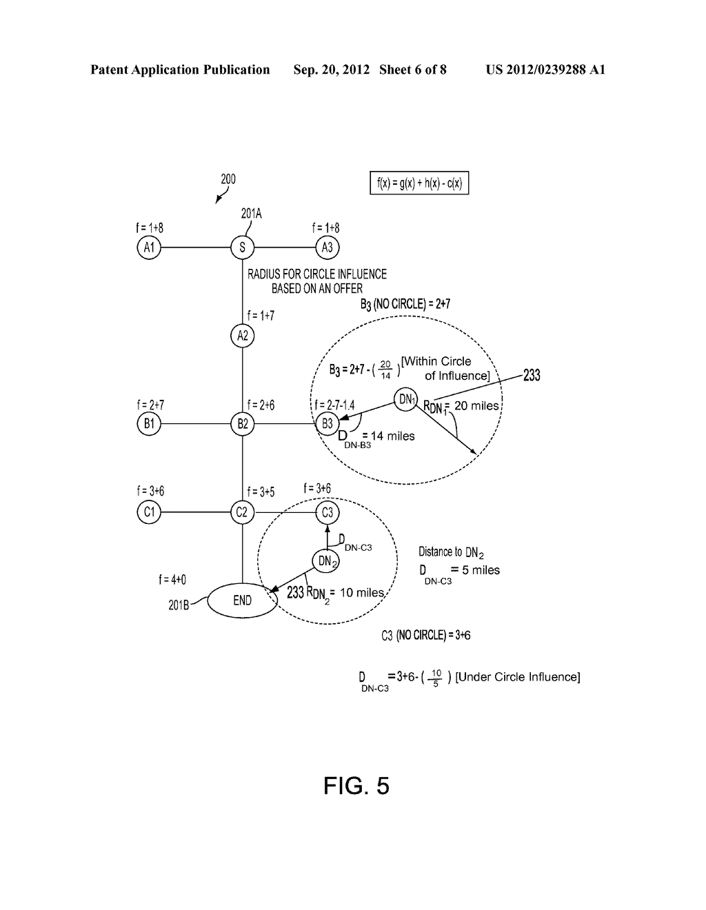 METHOD AND SYSTEM FOR GENERATING SAVINGS ROUTES WITH A PORTABLE COMPUTING     DEVICE - diagram, schematic, and image 07