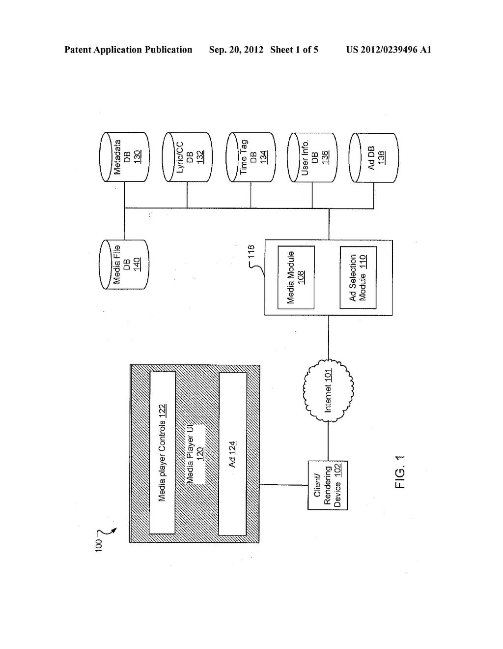 METHOD AND SYSTEM FOR DISPLAYING CONTEXTUAL ADVERTISEMENTS WITH MEDIA - diagram, schematic, and image 02