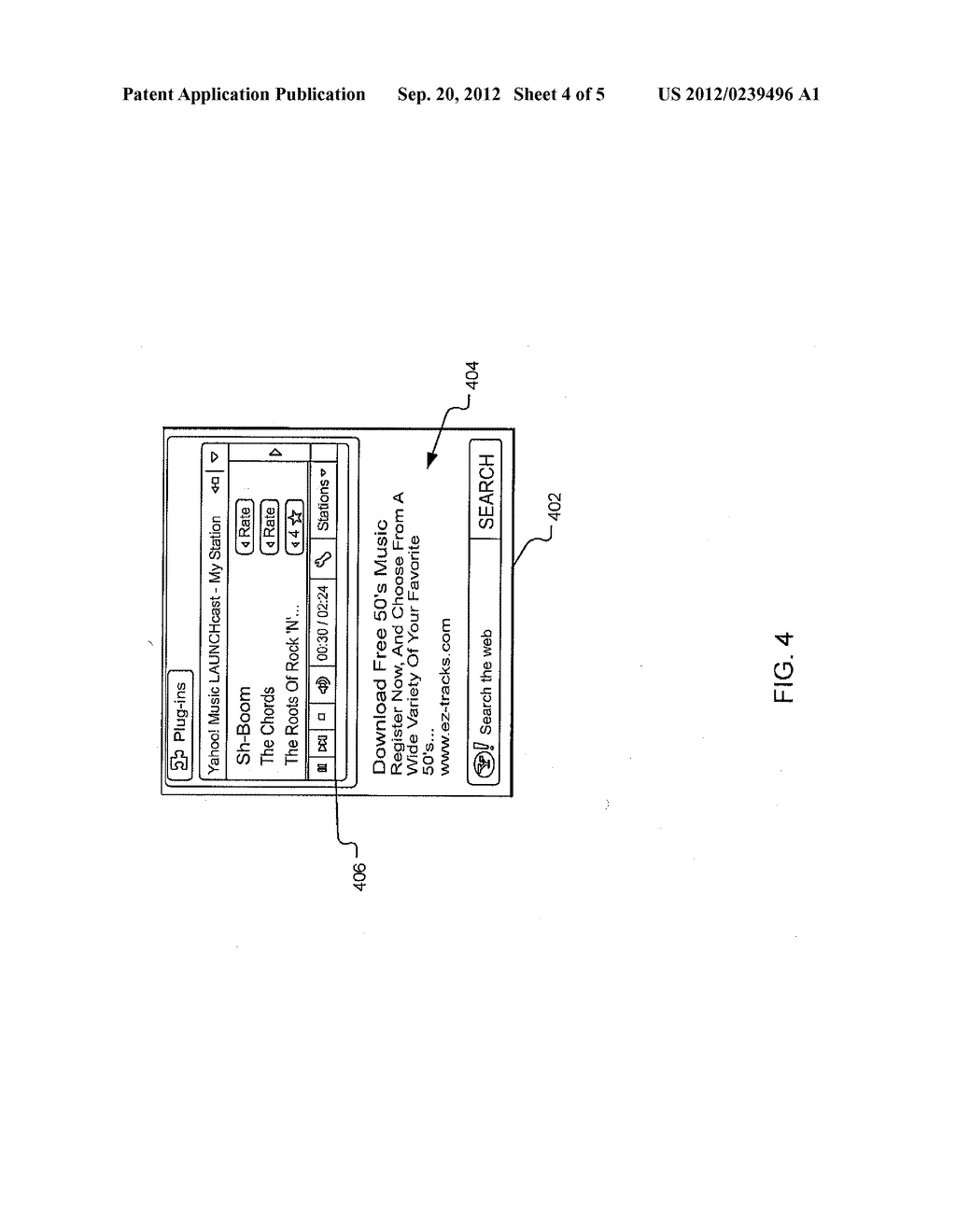 METHOD AND SYSTEM FOR DISPLAYING CONTEXTUAL ADVERTISEMENTS WITH MEDIA - diagram, schematic, and image 05