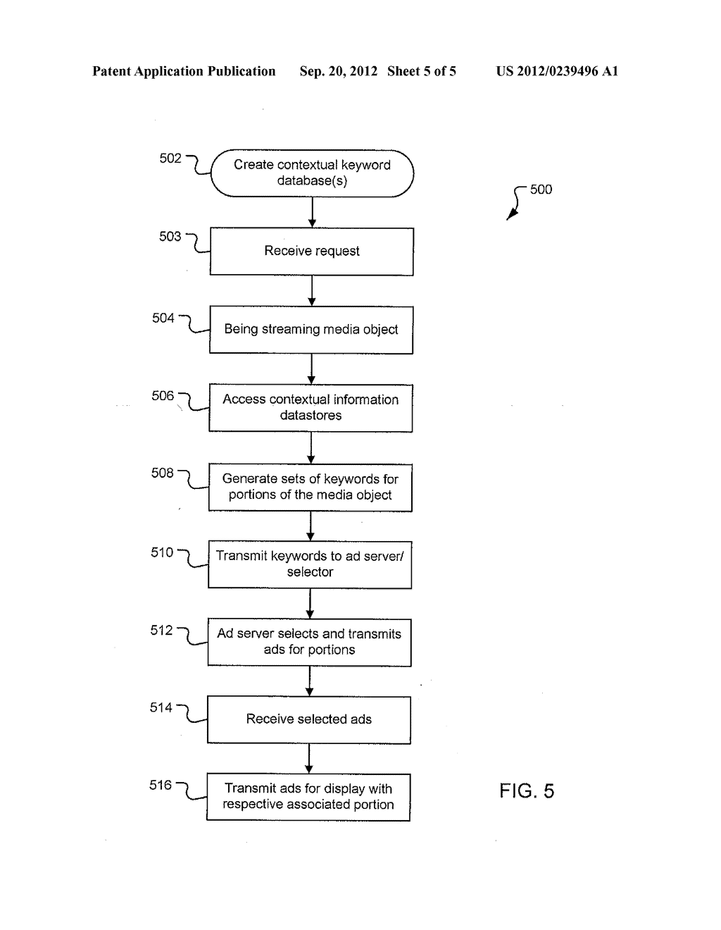 METHOD AND SYSTEM FOR DISPLAYING CONTEXTUAL ADVERTISEMENTS WITH MEDIA - diagram, schematic, and image 06