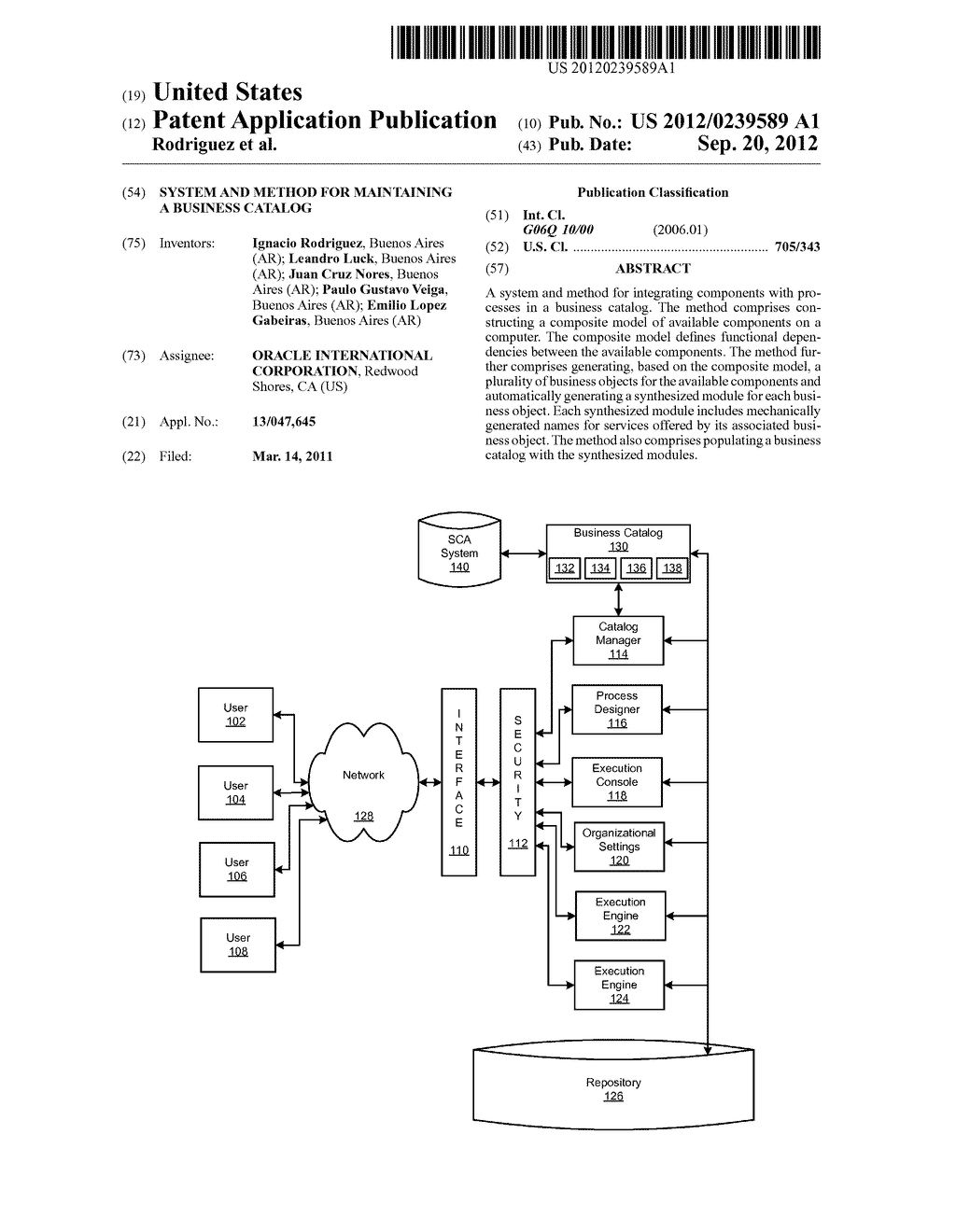 SYSTEM AND METHOD FOR MAINTAINING A BUSINESS CATALOG - diagram, schematic, and image 01