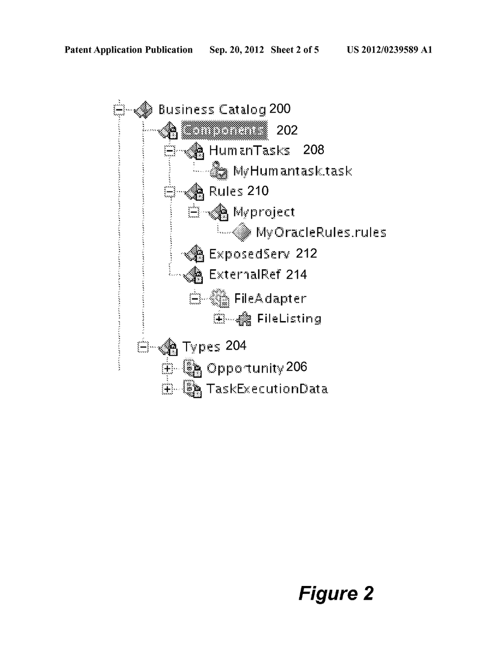 SYSTEM AND METHOD FOR MAINTAINING A BUSINESS CATALOG - diagram, schematic, and image 03