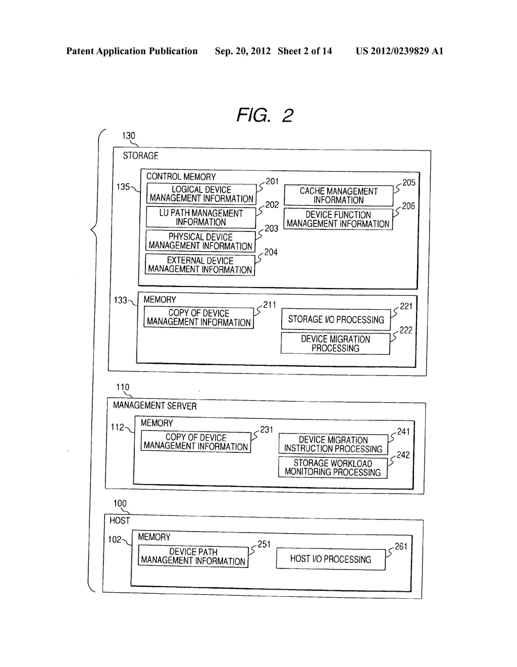 CONTROL METHOD OF DEVICE IN STORAGE SYSTEM FOR VIRTUALIZATION - diagram, schematic, and image 03