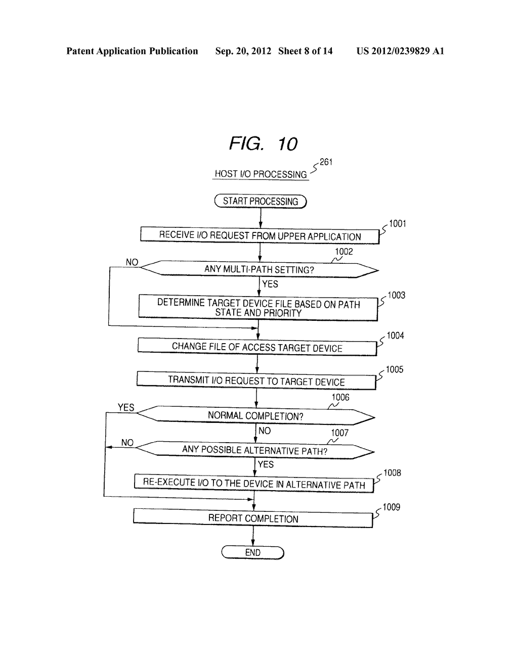 CONTROL METHOD OF DEVICE IN STORAGE SYSTEM FOR VIRTUALIZATION - diagram, schematic, and image 09