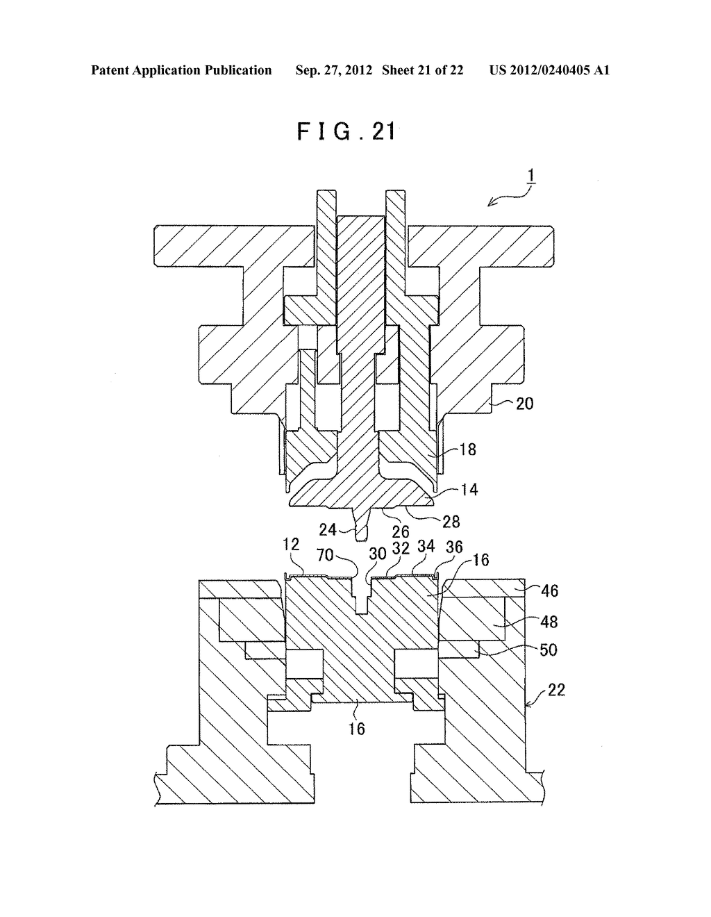 MANUFACTURING METHOD FOR TOOTHED PART AND MANUFACTURING DEVICE FOR TOOTHED     PART - diagram, schematic, and image 22