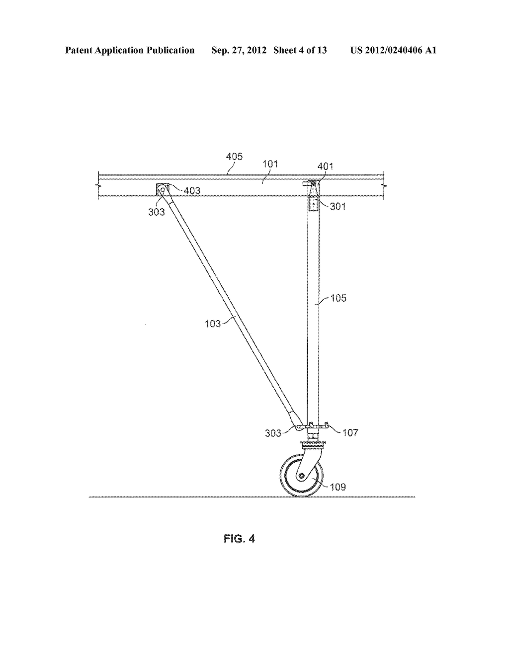 METHOD OF ASSEMBLING A PORTABLE SUPPORT STRUCTURE - diagram, schematic, and image 05