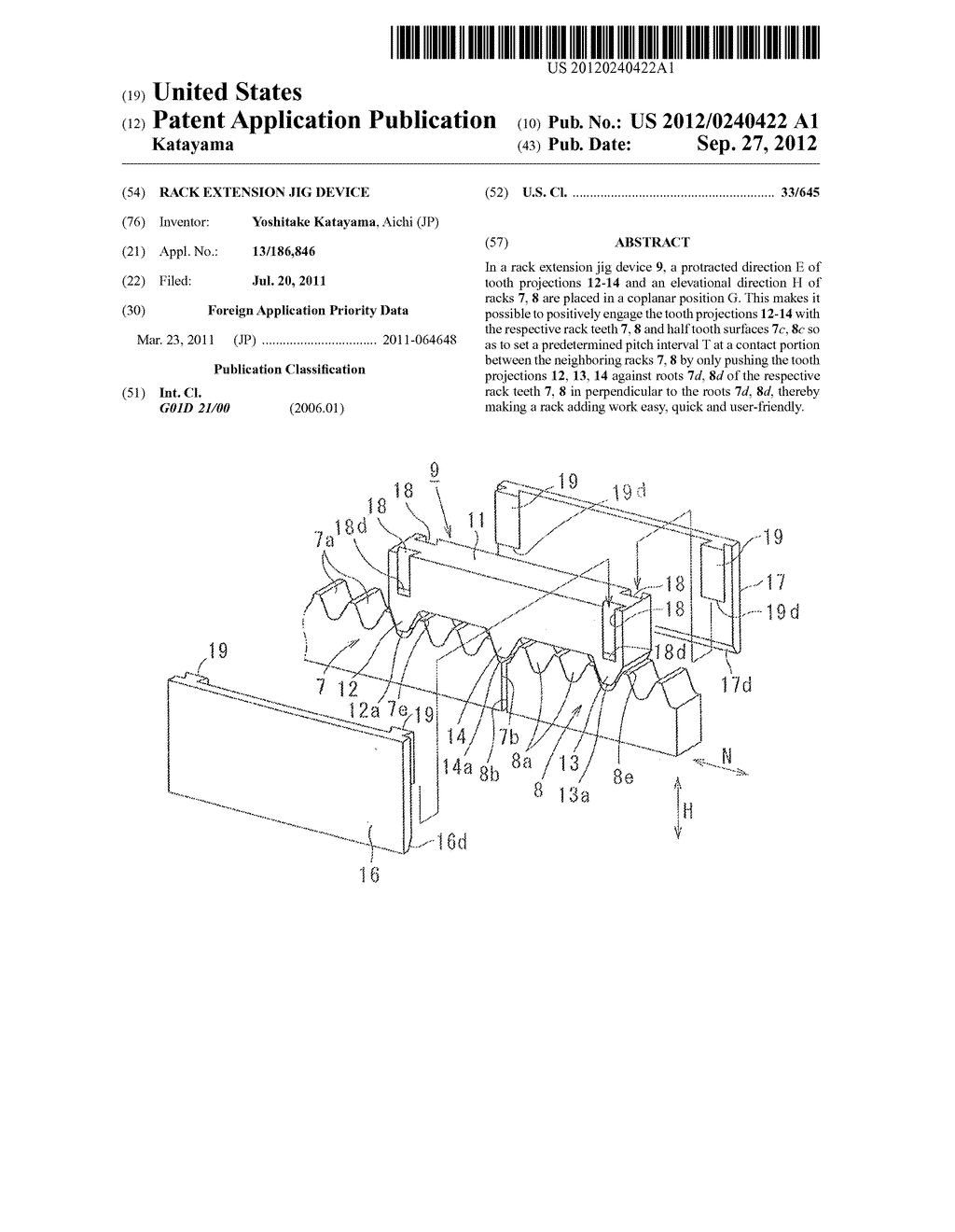 RACK EXTENSION JIG DEVICE - diagram, schematic, and image 01