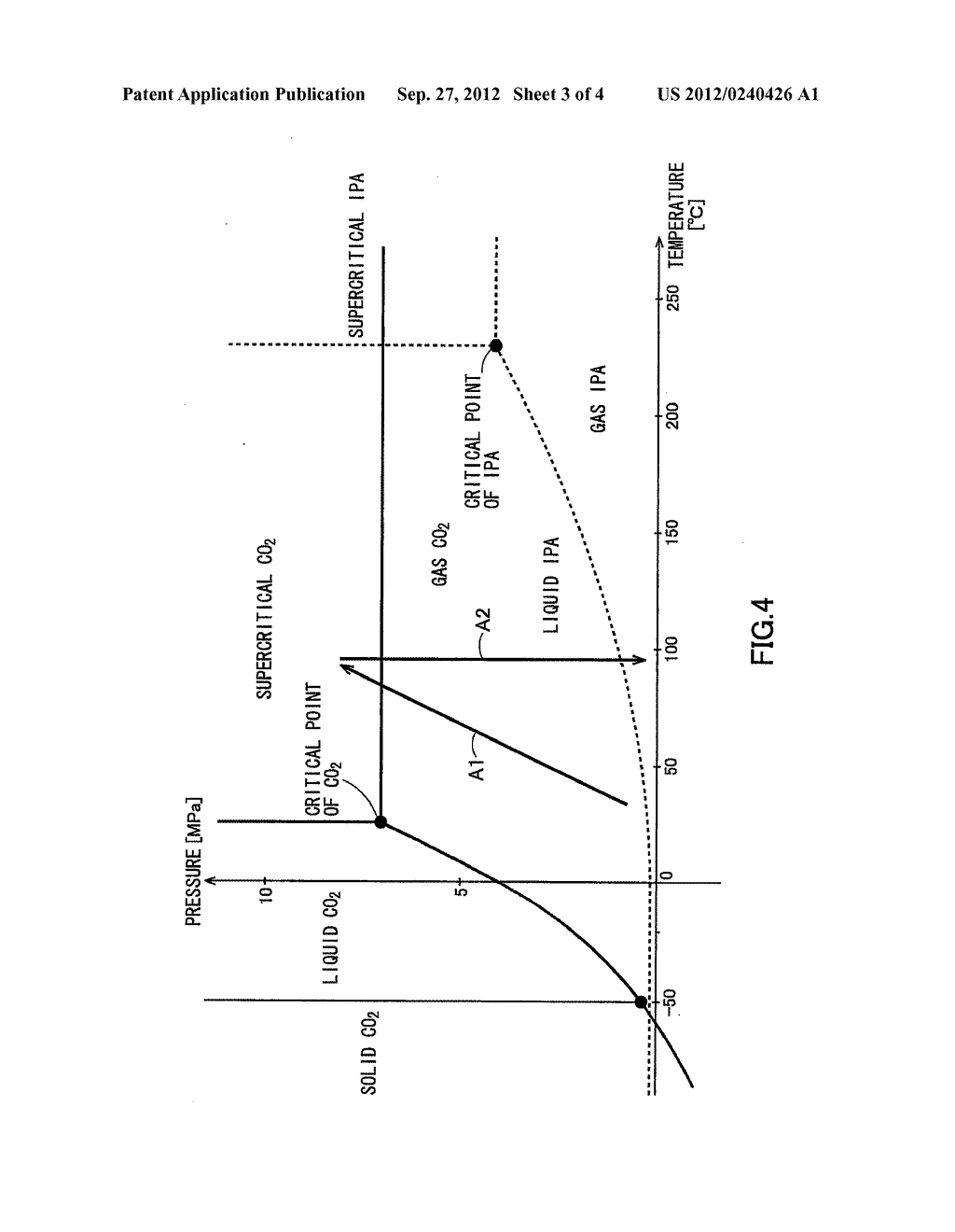 SUPERCRITICAL DRYING METHOD FOR SEMICONDUCTOR SUBSTRATE - diagram, schematic, and image 04