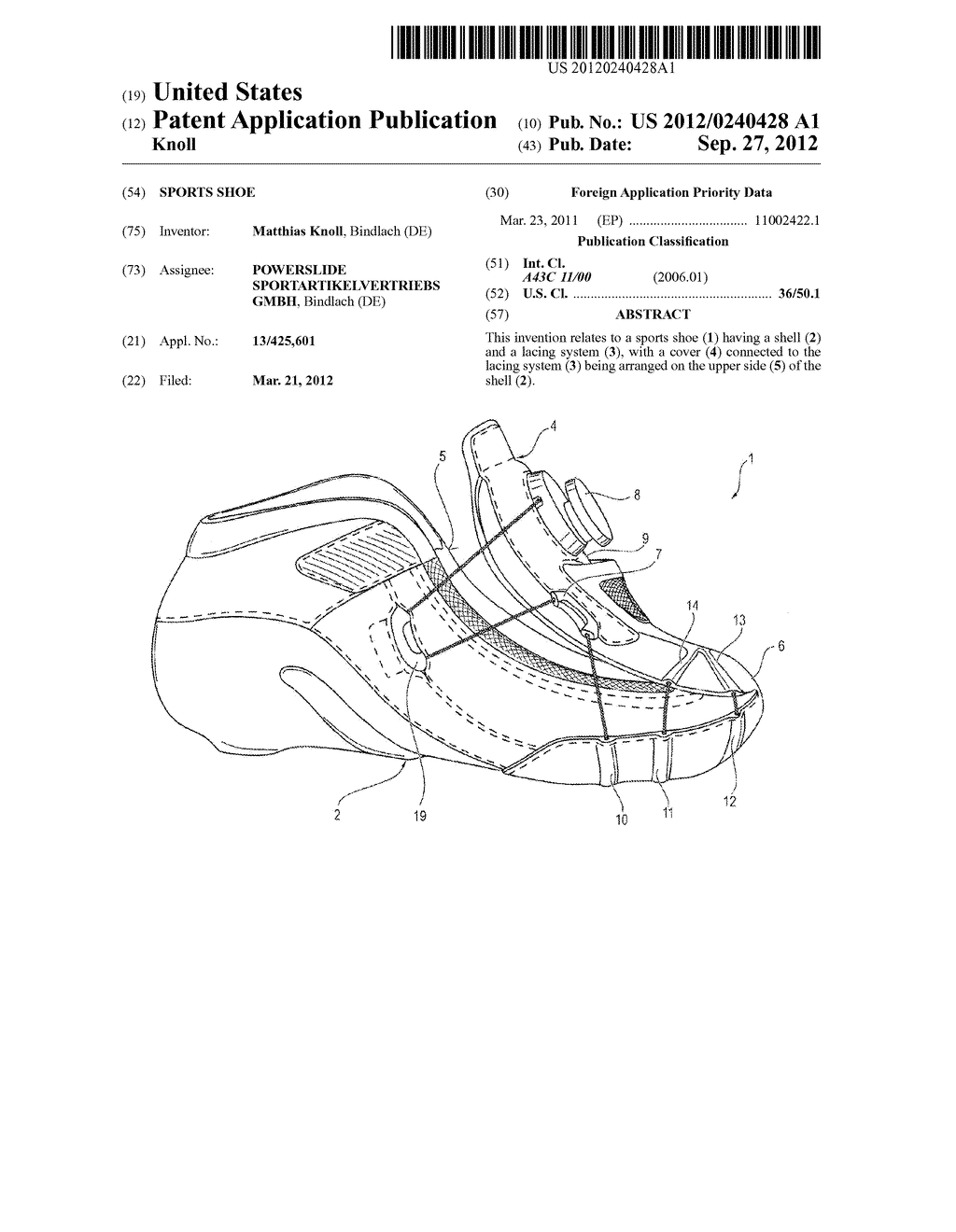 SPORTS SHOE - diagram, schematic, and image 01