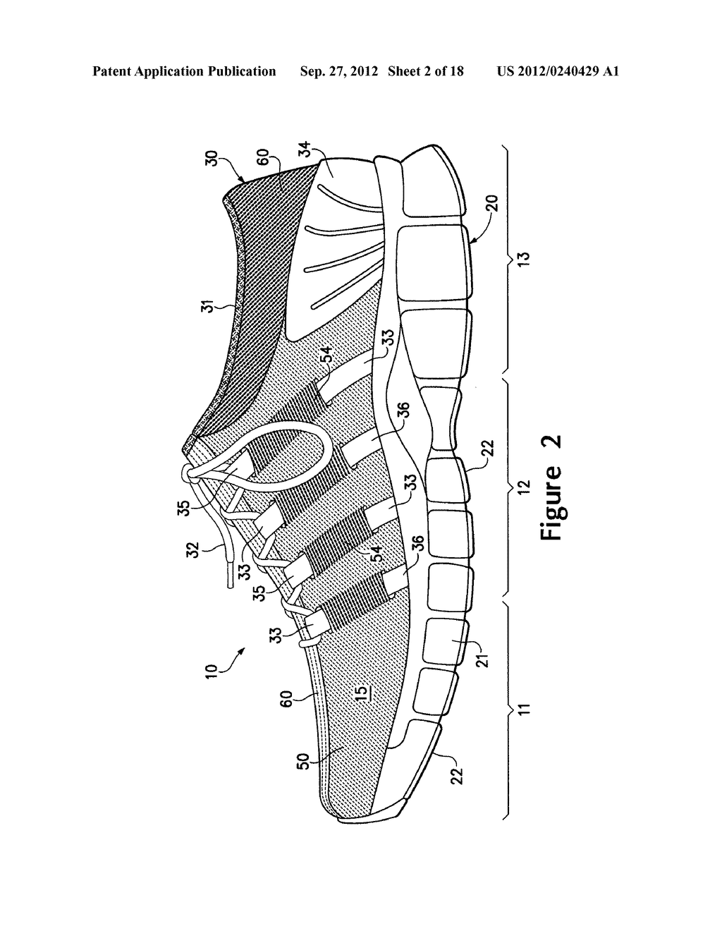 ARTICLE OF FOOTWEAR HAVING A FLAT KNIT UPPER CONSTRUCTION OR OTHER UPPER     CONSTRUCTION - diagram, schematic, and image 03