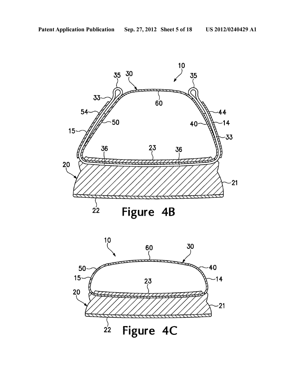 ARTICLE OF FOOTWEAR HAVING A FLAT KNIT UPPER CONSTRUCTION OR OTHER UPPER     CONSTRUCTION - diagram, schematic, and image 06
