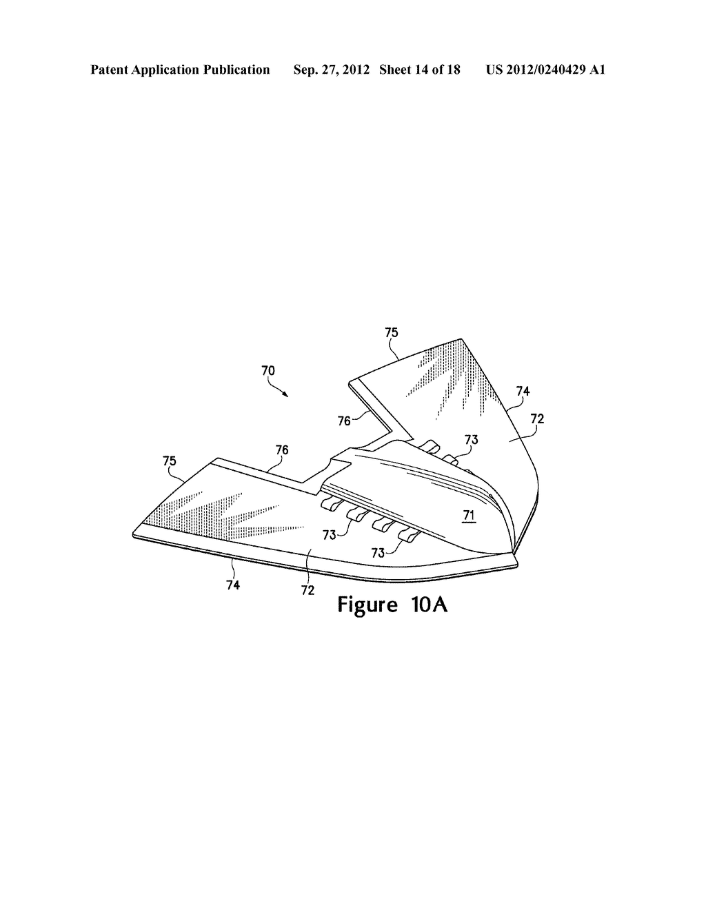 ARTICLE OF FOOTWEAR HAVING A FLAT KNIT UPPER CONSTRUCTION OR OTHER UPPER     CONSTRUCTION - diagram, schematic, and image 15