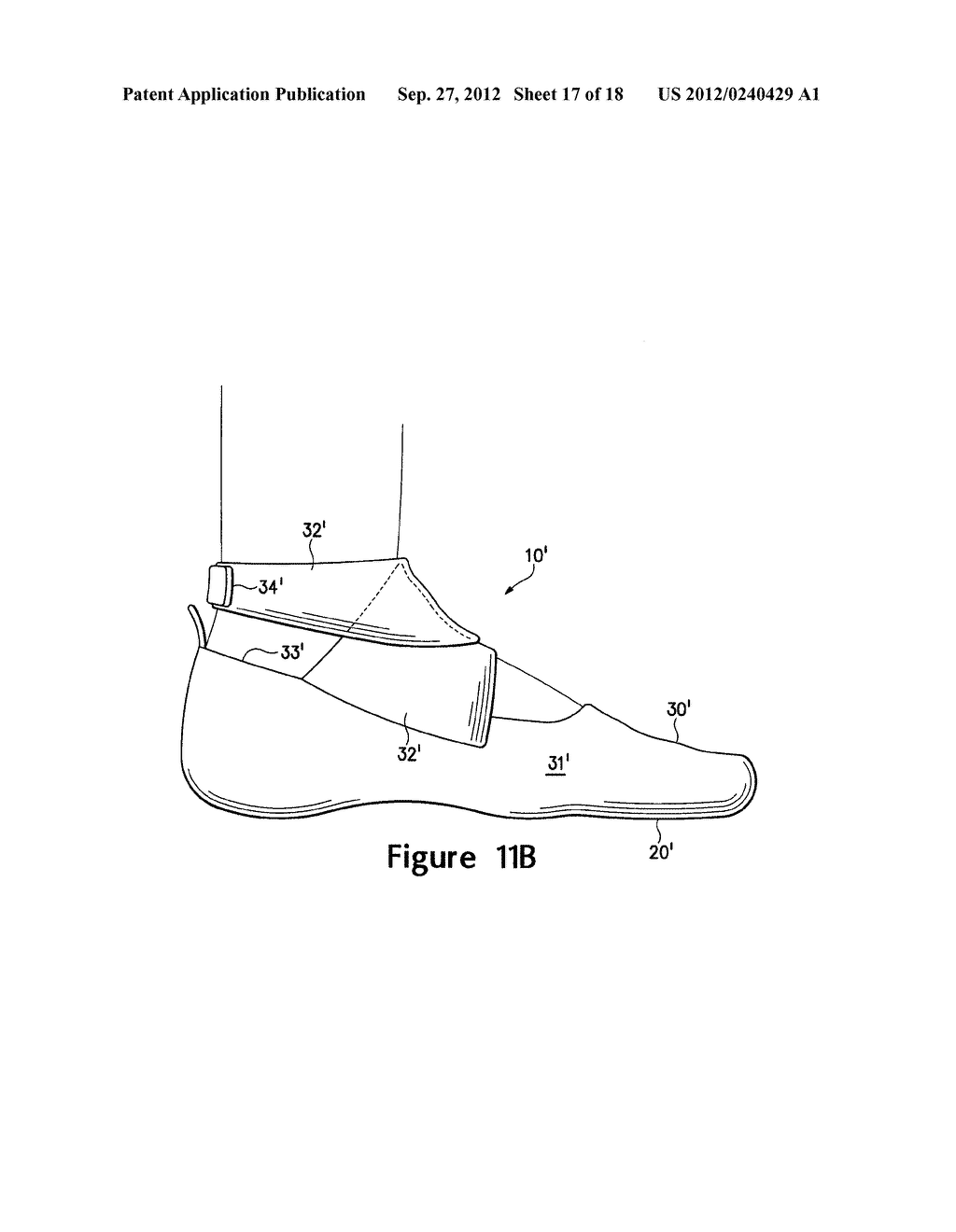 ARTICLE OF FOOTWEAR HAVING A FLAT KNIT UPPER CONSTRUCTION OR OTHER UPPER     CONSTRUCTION - diagram, schematic, and image 18