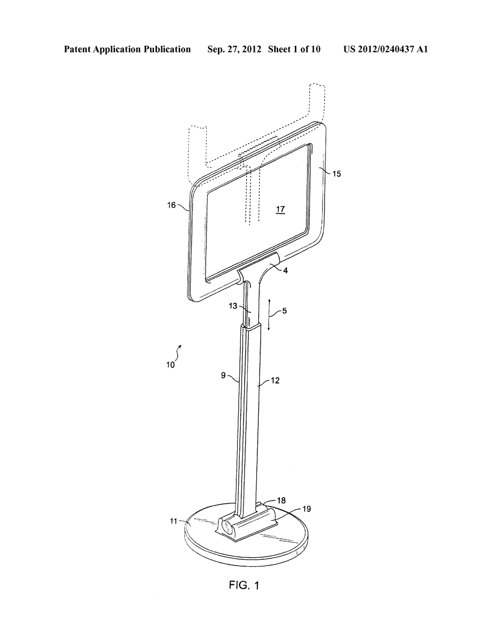 SIGN HOLDER DEVICE - diagram, schematic, and image 02