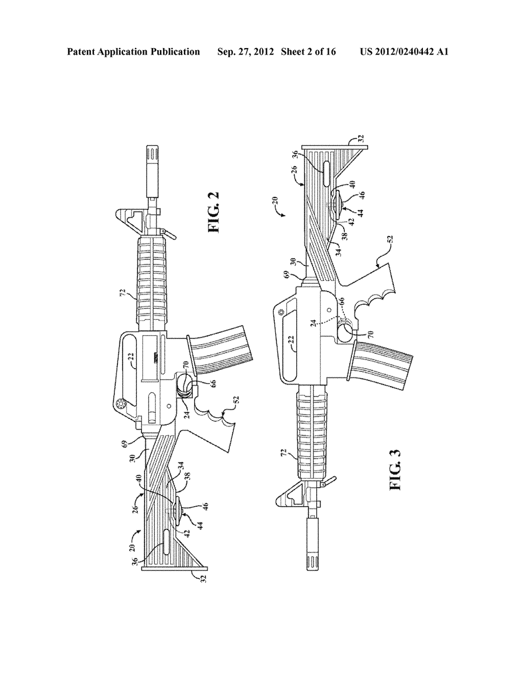 SLIDE STOCK FOR FIREARM WITH RETRACTABLE LOCK PIN - diagram, schematic, and image 03