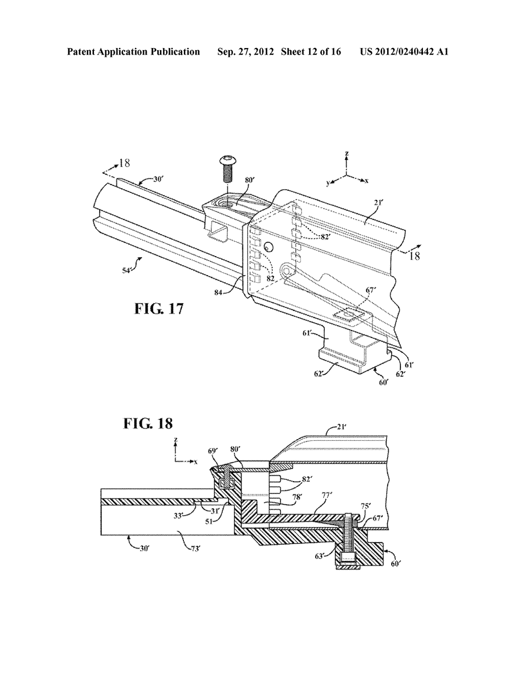 SLIDE STOCK FOR FIREARM WITH RETRACTABLE LOCK PIN - diagram, schematic, and image 13