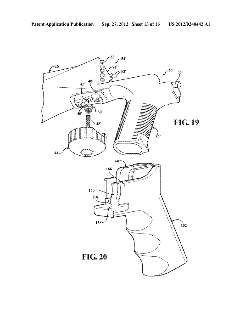SLIDE STOCK FOR FIREARM WITH RETRACTABLE LOCK PIN - diagram, schematic, and image 14