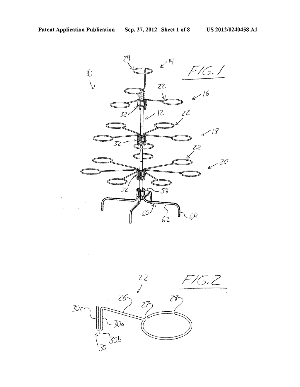 Tree-Style Potted Plant Holder and Hubs, Supports, Adapters and Watering     System for Same - diagram, schematic, and image 02
