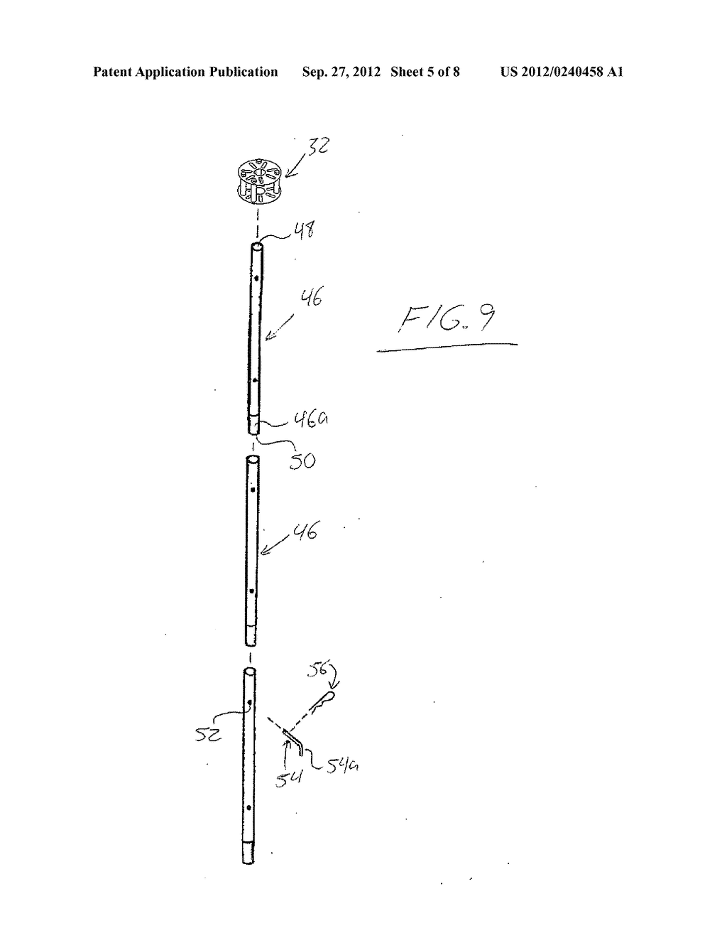 Tree-Style Potted Plant Holder and Hubs, Supports, Adapters and Watering     System for Same - diagram, schematic, and image 06