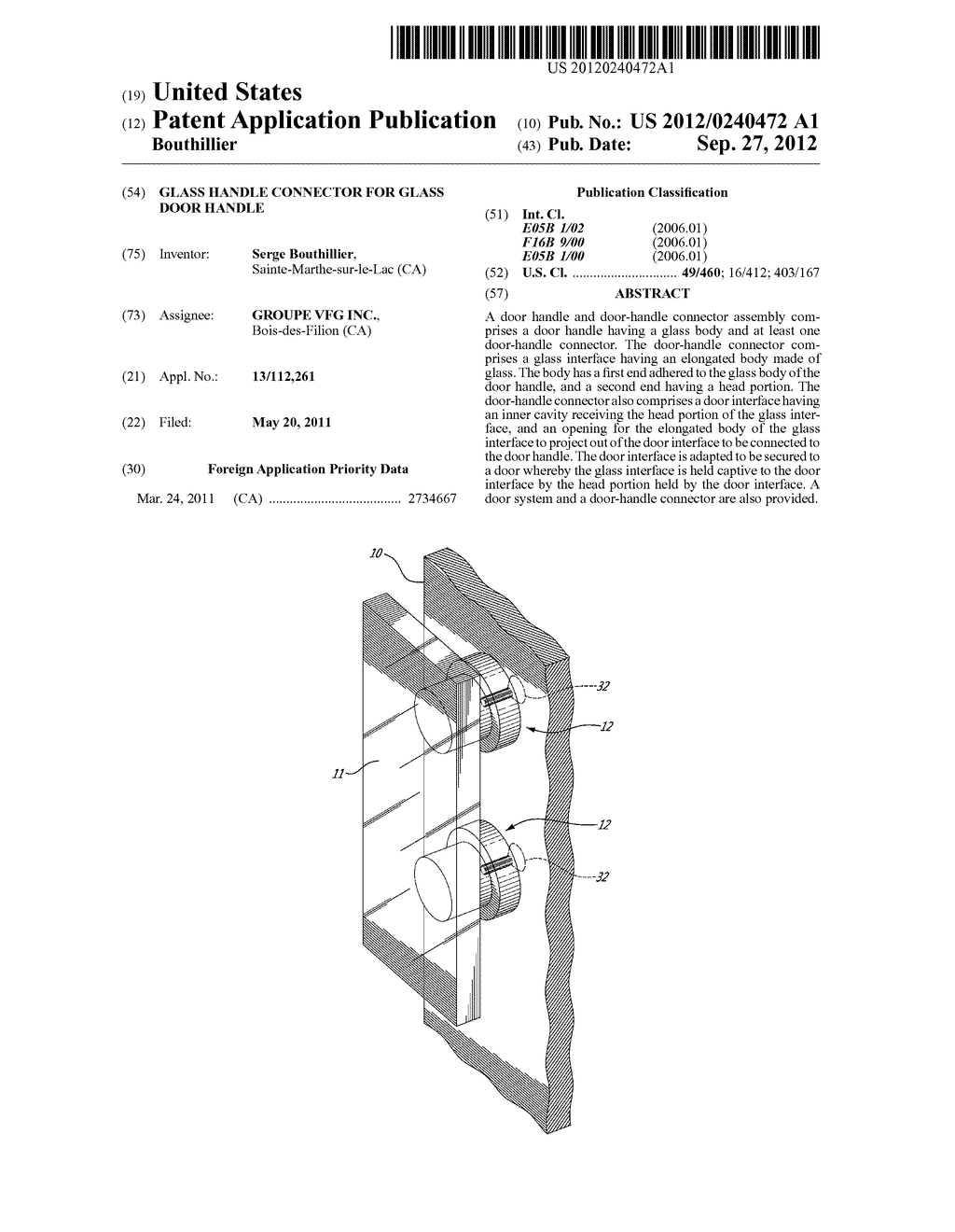 GLASS HANDLE CONNECTOR FOR GLASS DOOR HANDLE - diagram, schematic, and image 01