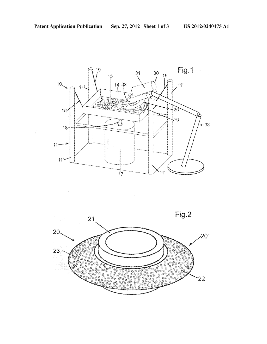 METHOD AND DEVICE FOR PRODUCING A BASE BODY WITH HARD MATERIAL PARTICLES - diagram, schematic, and image 02