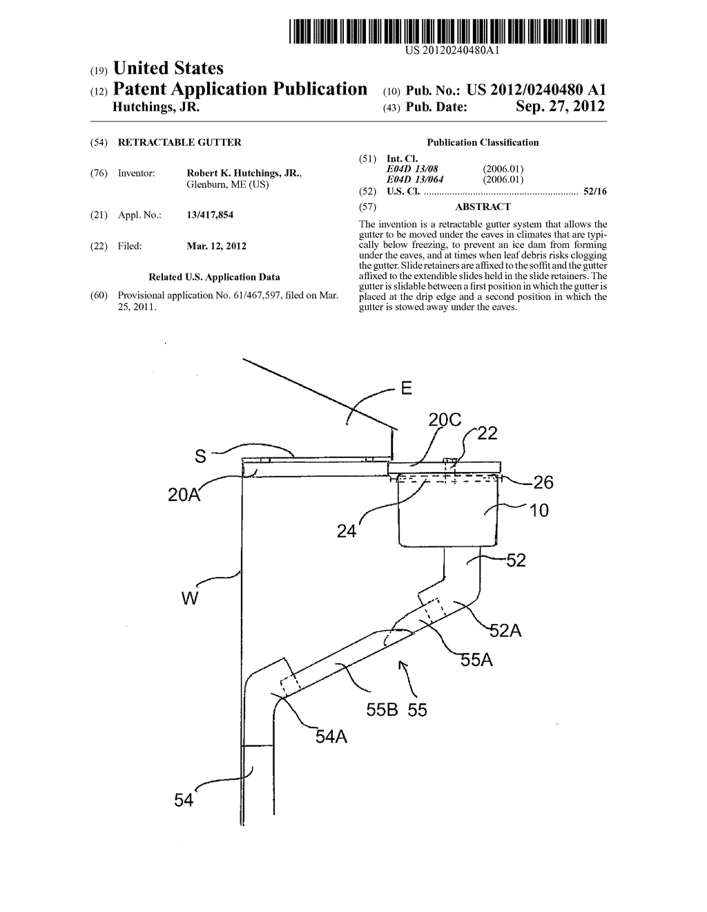 Retractable Gutter - diagram, schematic, and image 01