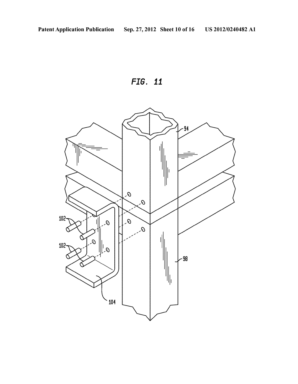 Components for a Modular High-Rise Structures And Method For Assembling     Same - diagram, schematic, and image 11