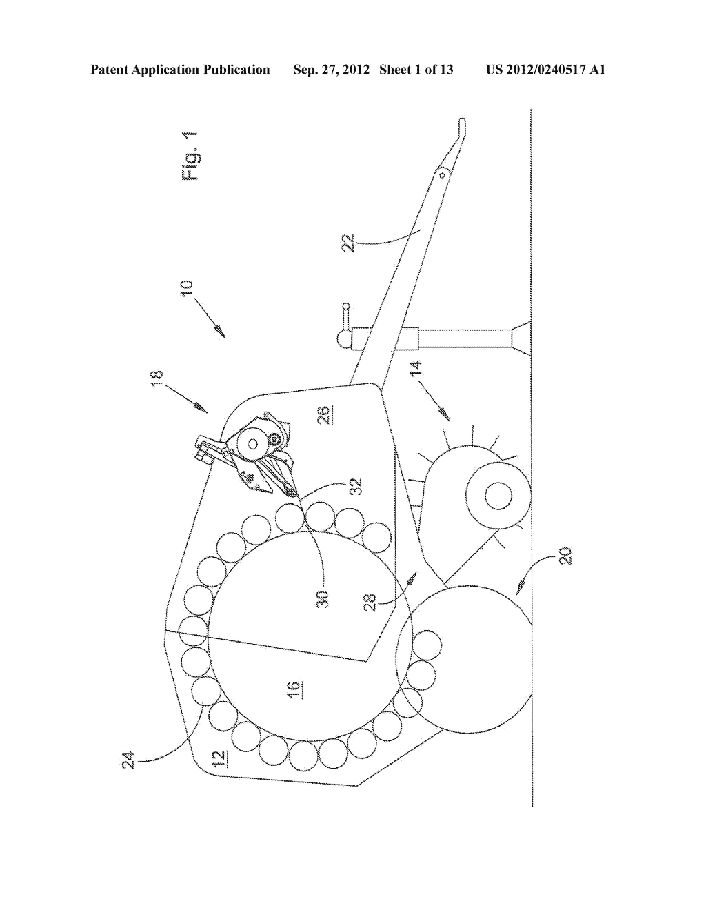 Round Baler Having A Web Wrap Apparatus - diagram, schematic, and image 02