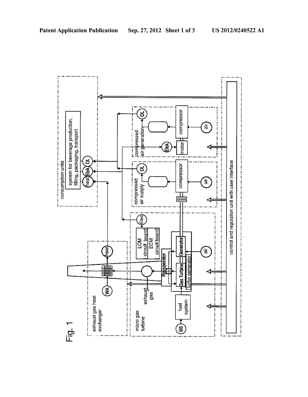 SYSTEM AND METHOD FOR PRODUCING, FILLING, PACKAGING AND/OR TRANSPORTING     BEVERAGES - diagram, schematic, and image 02