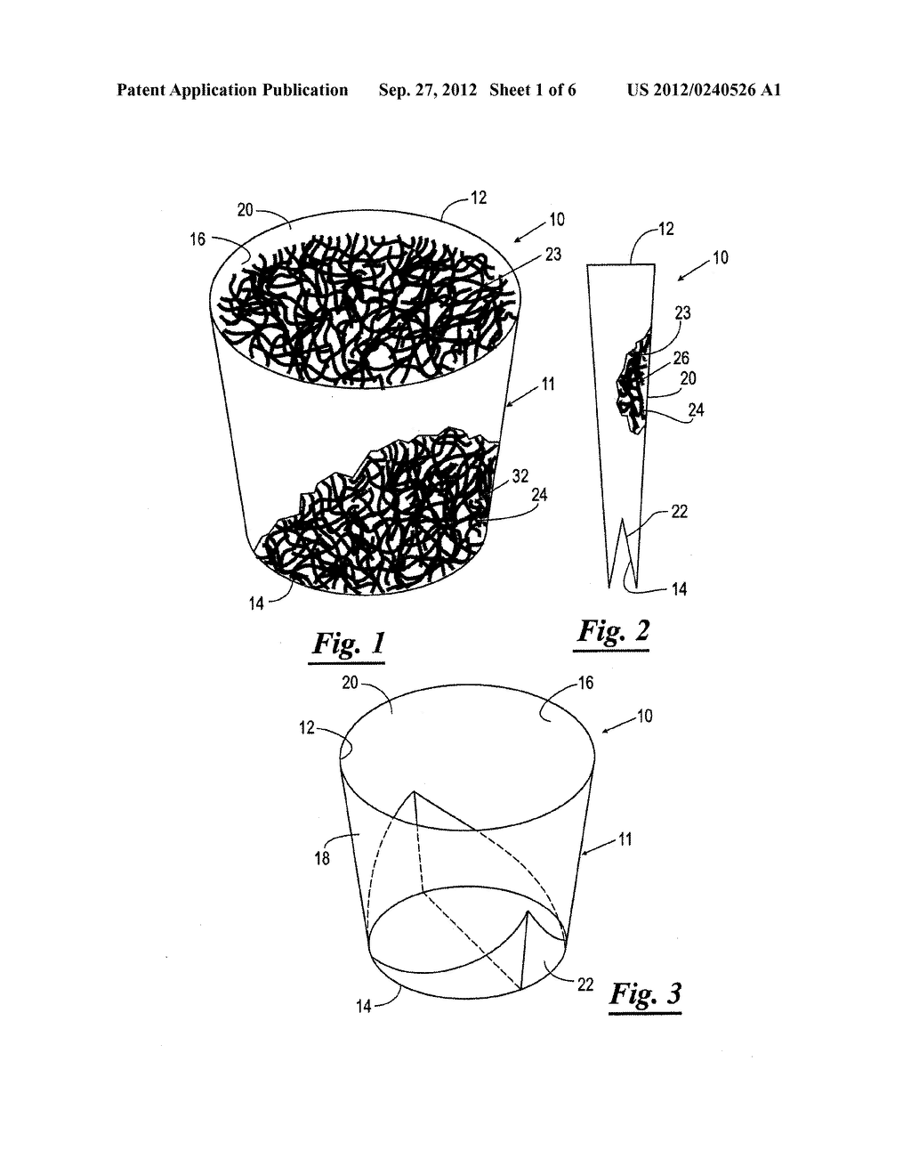 CONTAINER ASSEMBLIES HAVING COLLAPSIBLE AND ERECTABLE CONTAINERS     CONTAINING A PACKAGING MATERIAL AND METHODS OF PRODUCTION AND USE THEREOF - diagram, schematic, and image 02