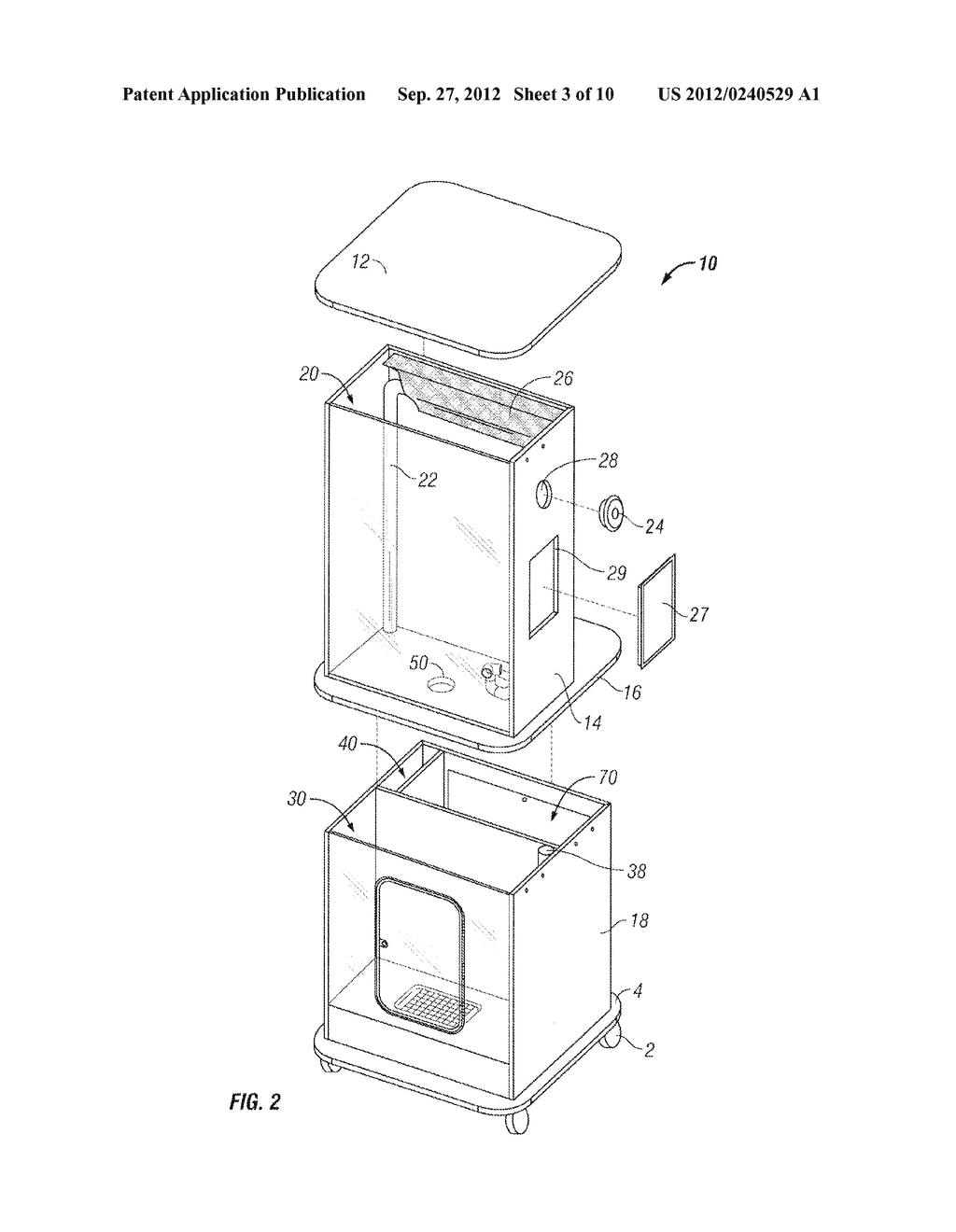 Apparatus and Method of Filling Down-Filled Articles - diagram, schematic, and image 04