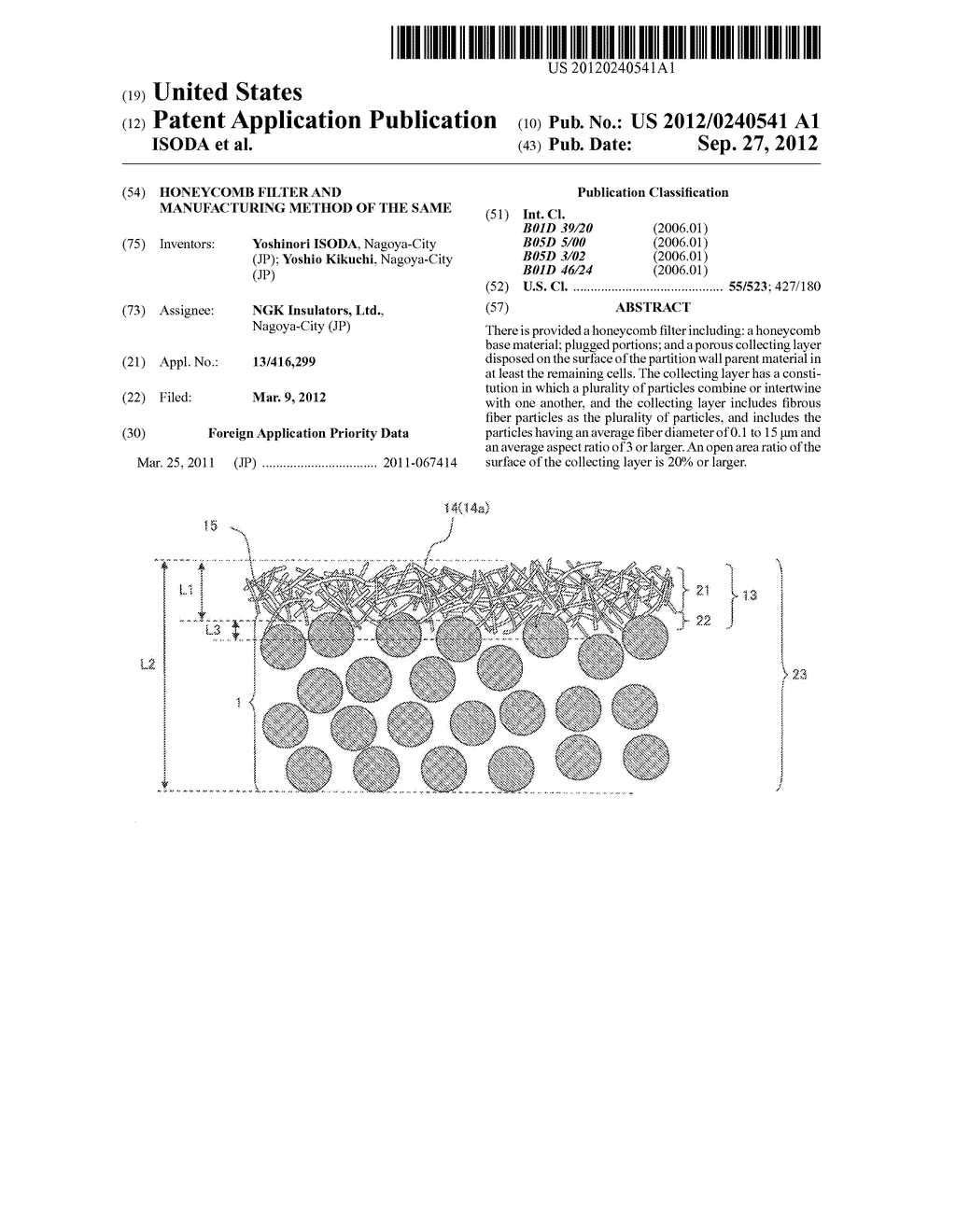 HONEYCOMB FILTER AND MANUFACTURING METHOD OF THE SAME - diagram, schematic, and image 01
