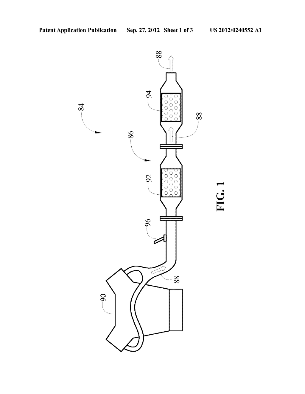 METHOD OF OPERATING AN EXHAUST GAS TREATMENT SYSTEM TO PREVENT QUENCHING     DURING REGENERATION - diagram, schematic, and image 02