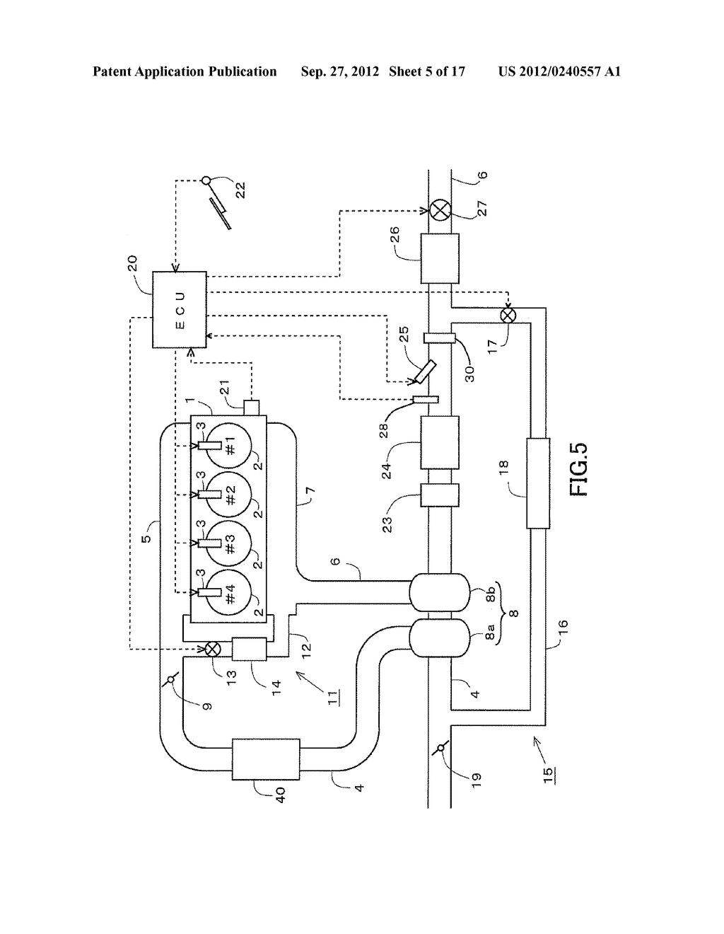 EXHAUST GAS PURIFICATION SYSTEM FOR AN INTERNAL COMBUSTION ENGINE - diagram, schematic, and image 06