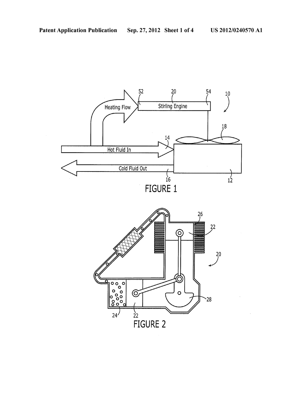 HEAT EXCHANGER AND ASSOCIATED METHOD EMPLOYING A STIRLING ENGINE - diagram, schematic, and image 02