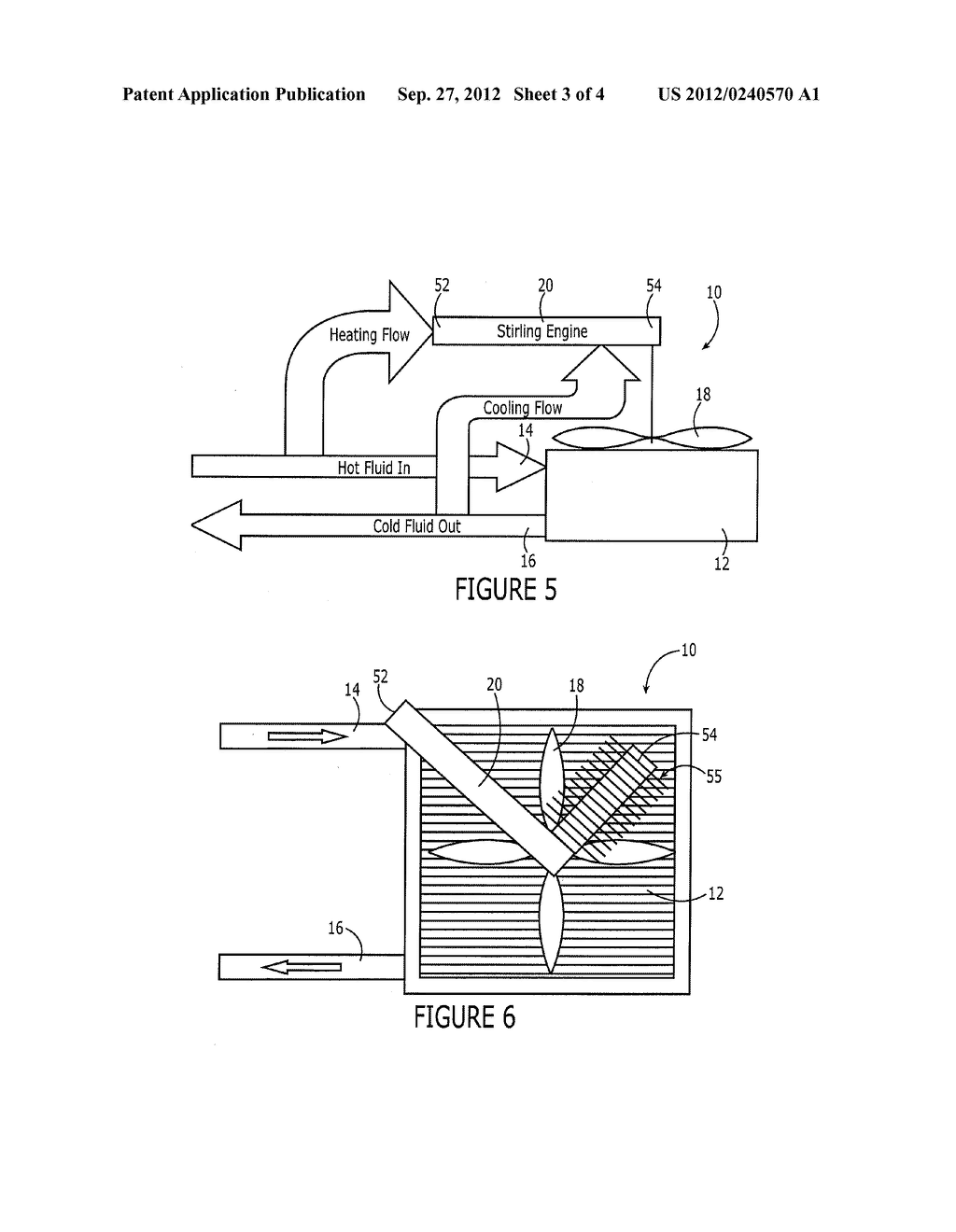 HEAT EXCHANGER AND ASSOCIATED METHOD EMPLOYING A STIRLING ENGINE - diagram, schematic, and image 04