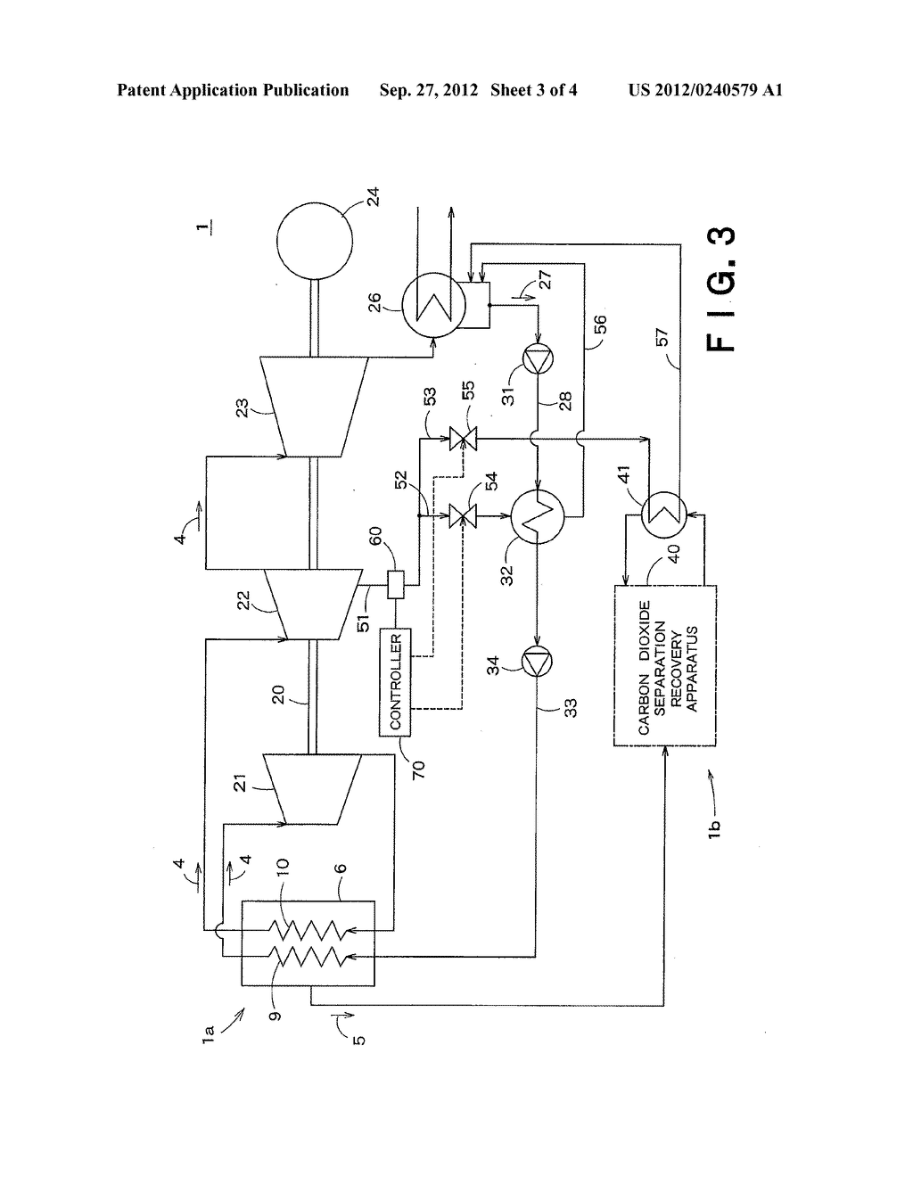 CARBON-DIOXIDE-RECOVERY-TYPE THERMAL POWER GENERATION SYSTEM AND METHOD OF     OPERATING THE SAME - diagram, schematic, and image 04