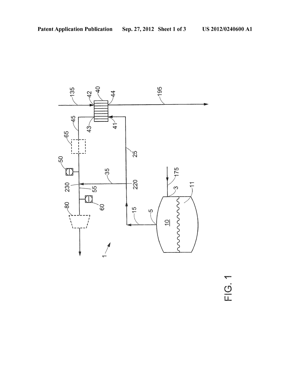 METHOD OF HANDLING A BOIL OFF GAS STREAM AND AN APPARATUS THEREFOR - diagram, schematic, and image 02
