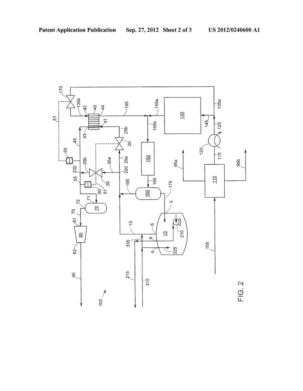 METHOD OF HANDLING A BOIL OFF GAS STREAM AND AN APPARATUS THEREFOR - diagram, schematic, and image 03