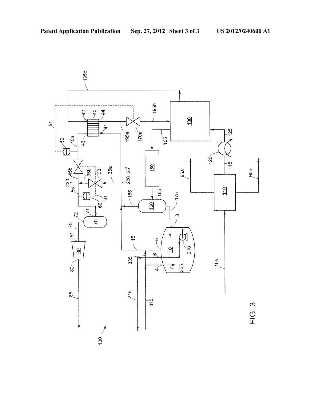 METHOD OF HANDLING A BOIL OFF GAS STREAM AND AN APPARATUS THEREFOR - diagram, schematic, and image 04