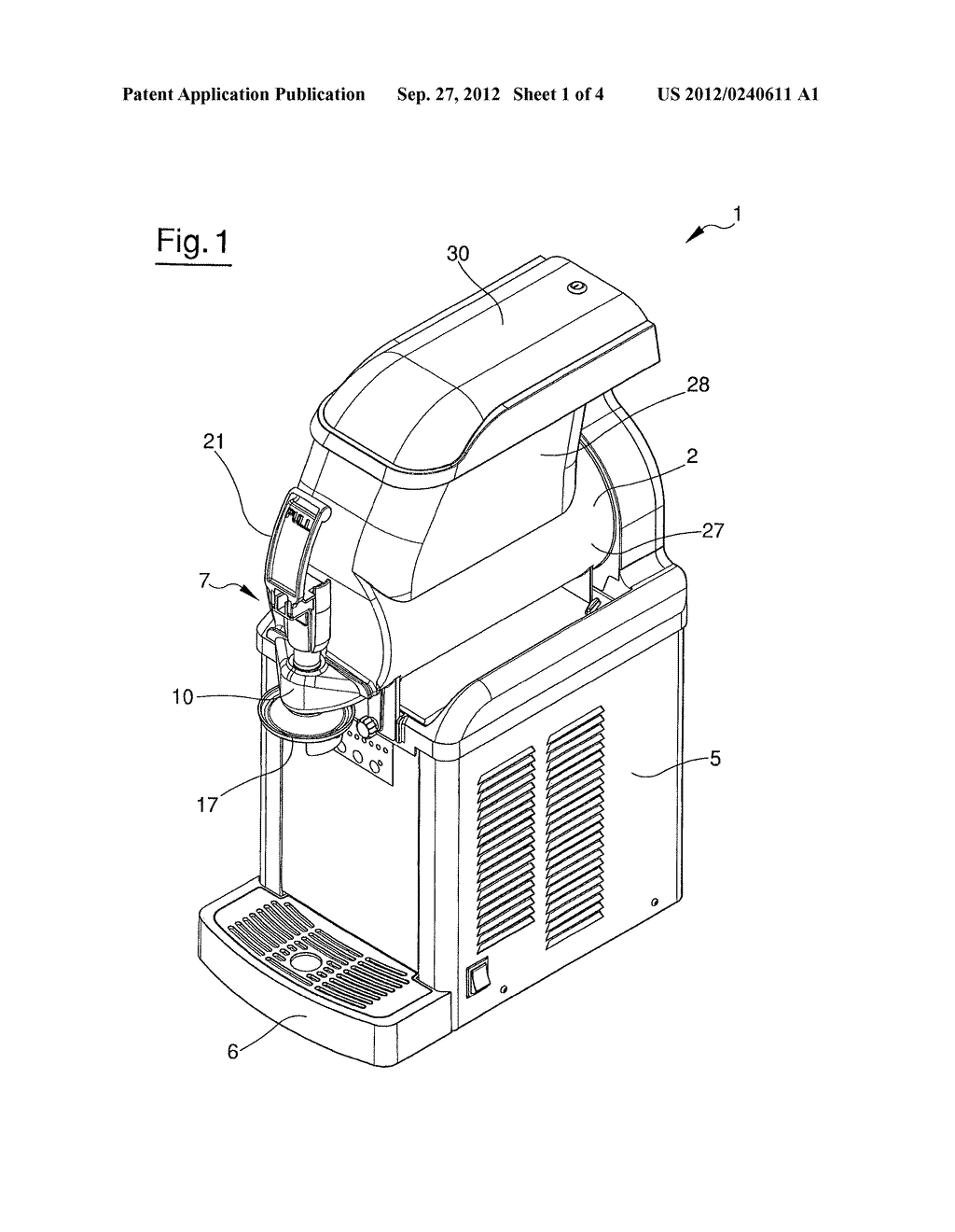 APPARATUS FOR DISPENSING A FOOD PRODUCT - diagram, schematic, and image 02