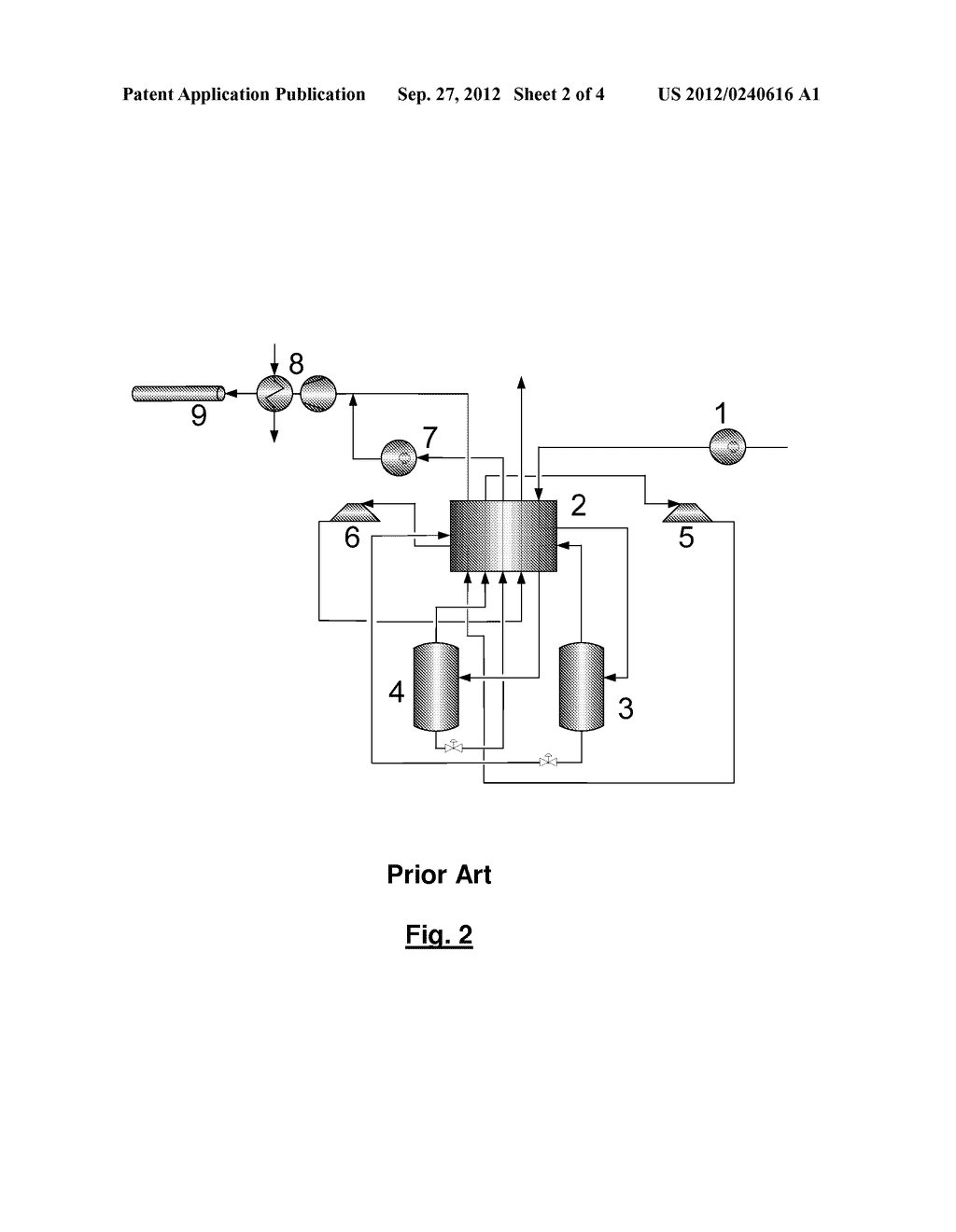 METHOD AND DEVICE FOR TREATING A CARBON DIOXIDE-CONTAINING GAS STREAM - diagram, schematic, and image 03